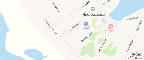 Улица Ленина на карте села Чистоозерки с номерами домов
