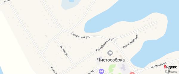 Советская улица на карте села Чистоозерки с номерами домов