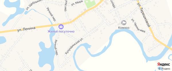 Кулундинская улица на карте села Баево с номерами домов