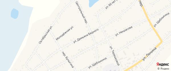 Улица Демьяна Бедного на карте села Баево с номерами домов