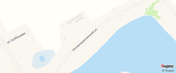 Интернациональная улица на карте села Чистоозерки с номерами домов