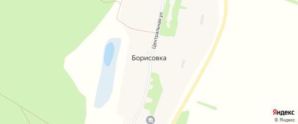 Боровой переулок на карте села Борисовки с номерами домов