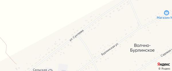 Улица Сунтеева на карте Волчна-Бурлинского села с номерами домов