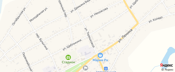 Улица Щеблыкина на карте села Баево с номерами домов