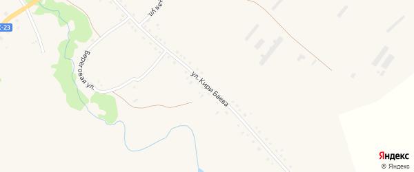 Улица Кири Баева на карте Поперечного села с номерами домов