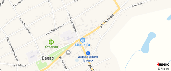 Улица Ленина на карте села Баево с номерами домов