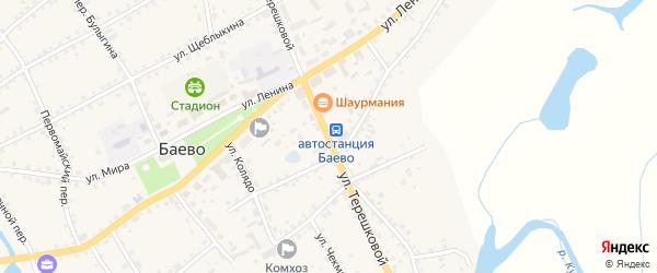 Улица Терешковой на карте села Баево с номерами домов