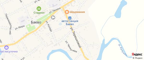 Советская улица на карте села Баево с номерами домов