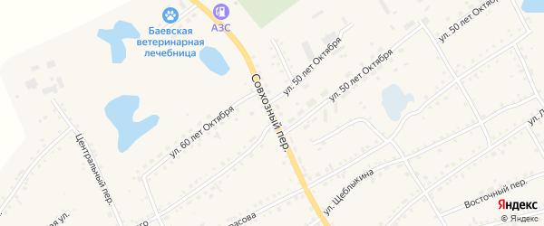 Совхозный переулок на карте села Баево с номерами домов