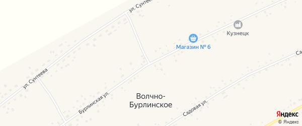 Бурлинская улица на карте Волчна-Бурлинского села с номерами домов