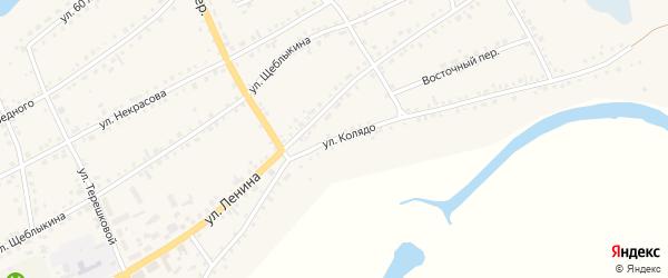 Улица Колядо на карте села Баево с номерами домов
