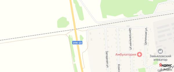 Мостовая улица на карте Малиновского поселка с номерами домов