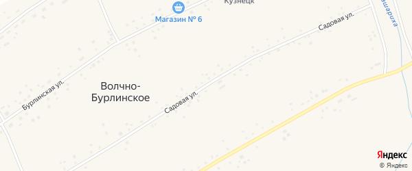 Садовая улица на карте Волчна-Бурлинского села с номерами домов