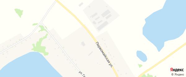 Первомайская улица на карте села Чистоозерки с номерами домов