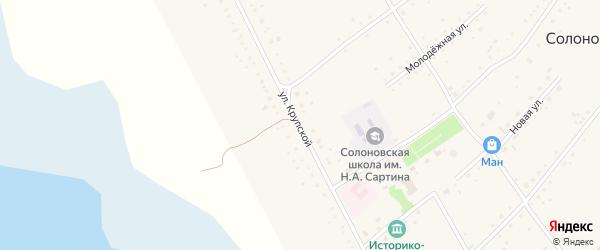 Улица им Крупской на карте села Солоновки с номерами домов