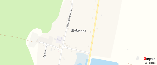 Степная улица на карте села Шубинки с номерами домов