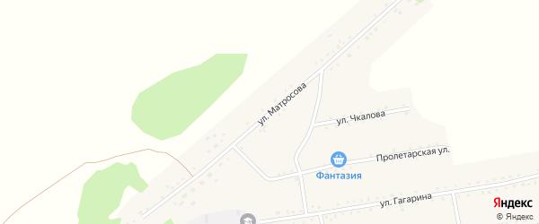 Улица Матросова на карте Малиновского поселка с номерами домов