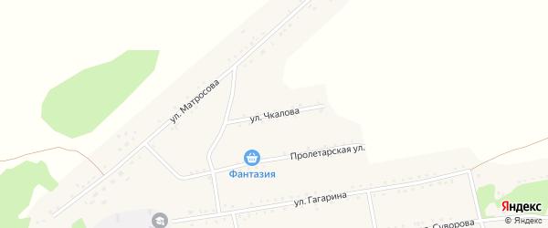 Улица Чкалова на карте Малиновского поселка с номерами домов