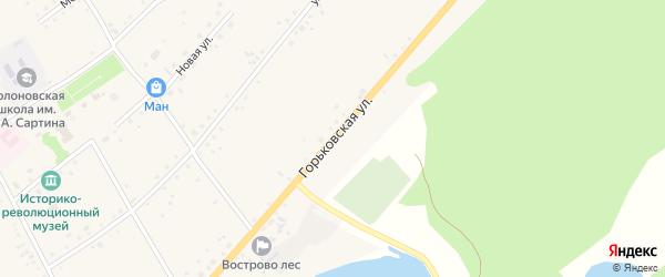 Горьковская улица на карте села Солоновки с номерами домов