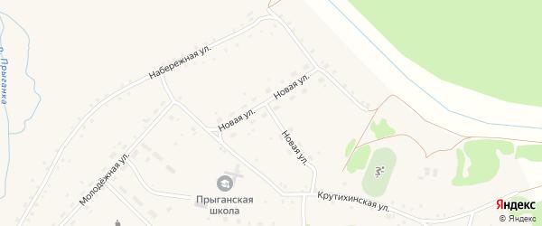 Новая улица на карте села Прыганки с номерами домов