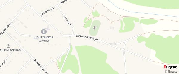 Крутихинская улица на карте села Прыганки с номерами домов