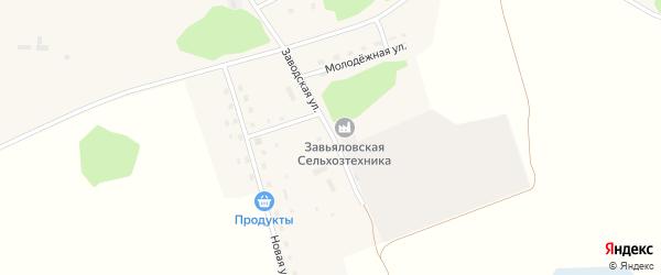 Заводская улица на карте Малиновского поселка с номерами домов