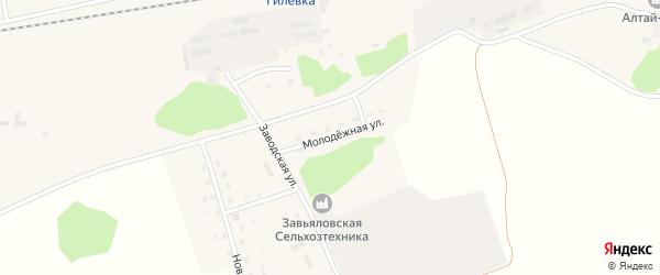 Молодёжная улица на карте Малиновского поселка с номерами домов