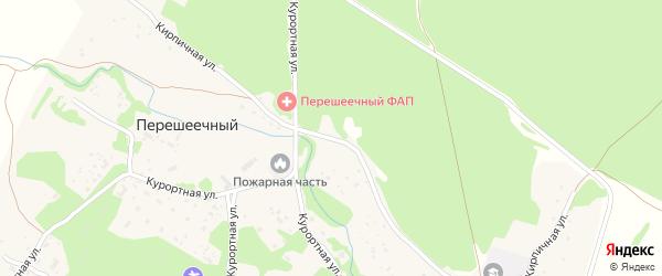 Кирпичная улица на карте Перешеечного поселка с номерами домов