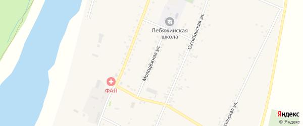 Молодежная улица на карте села Лебяжьего с номерами домов
