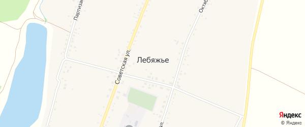 Улица Д.Компанец на карте села Лебяжьего с номерами домов