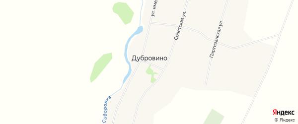 Карта села Дубровино в Алтайском крае с улицами и номерами домов