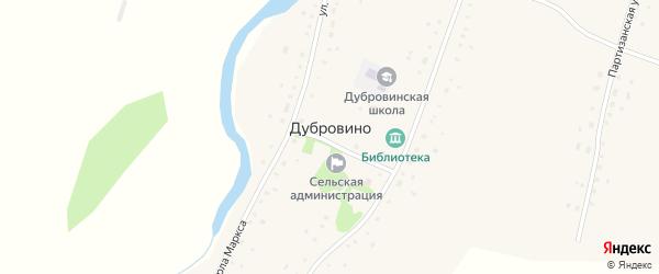 Садовая улица на карте села Дубровино с номерами домов