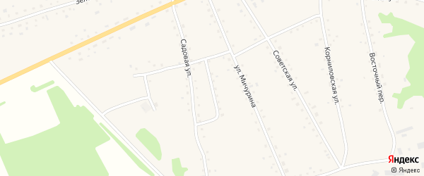 Комсомольский переулок на карте села Новоярки с номерами домов
