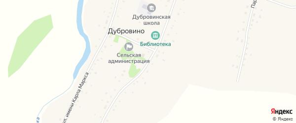 Советская улица на карте села Дубровино с номерами домов