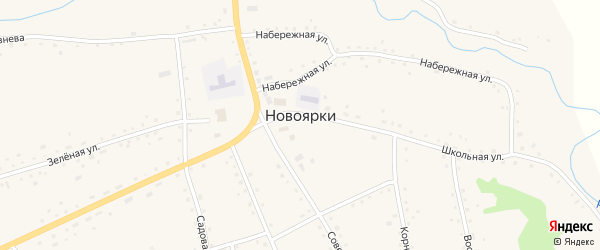 Улица Рембаза на карте села Новоярки с номерами домов