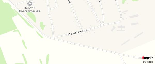 Молодежная улица на карте села Новоярки с номерами домов
