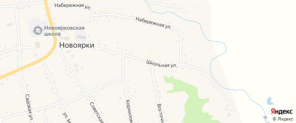 Школьная улица на карте села Новоярки с номерами домов