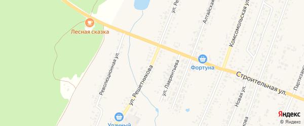 Улица Решетникова на карте Новоегорьевского села с номерами домов