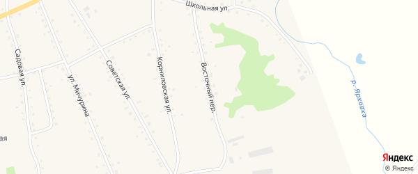 Восточный переулок на карте села Новоярки с номерами домов