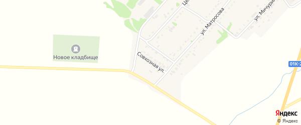 Совхозная улица на карте села Завьялово с номерами домов