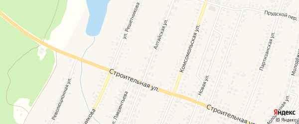 Алтайская улица на карте Новоегорьевского села с номерами домов
