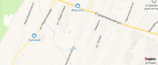 Комсомольская улица на карте Новоегорьевского села с номерами домов