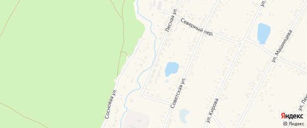 Лесная улица на карте Новоегорьевского села с номерами домов