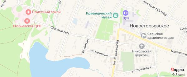 Садовый переулок на карте Новоегорьевского села с номерами домов