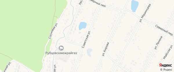 Советская улица на карте Новоегорьевского села с номерами домов