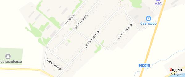 Улица Матросова на карте села Завьялово с номерами домов