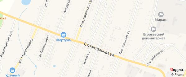 Новая улица на карте Новоегорьевского села с номерами домов