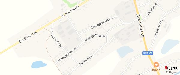Молодёжная улица на карте села Завьялово с номерами домов