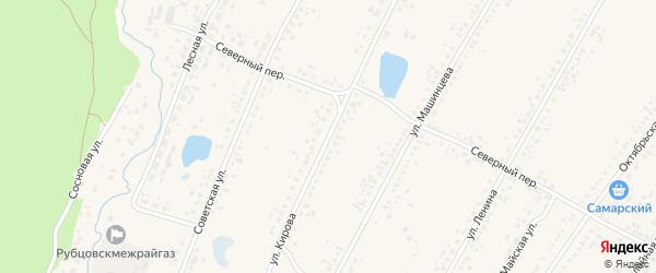 Улица Кирова на карте Новоегорьевского села с номерами домов