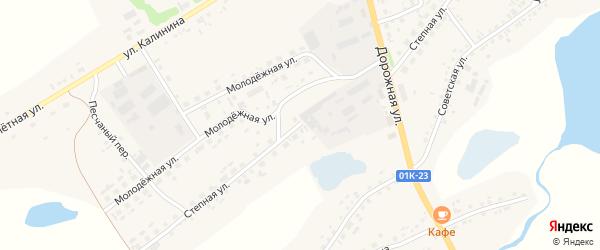 Степная улица на карте села Завьялово с номерами домов